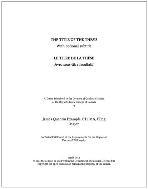 title page dissertation thesis preparation guidelines