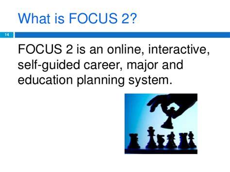 focus 2 career major education planning system