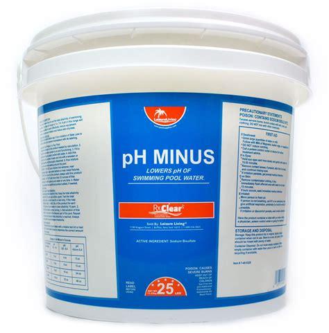 rx clear ph minus decreaser sodium bisulfate swimming pool