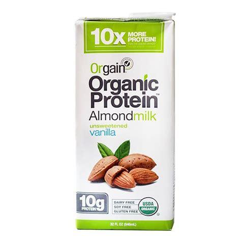 protein almond milk orgain organic protein almond milk unsweetened vanilla