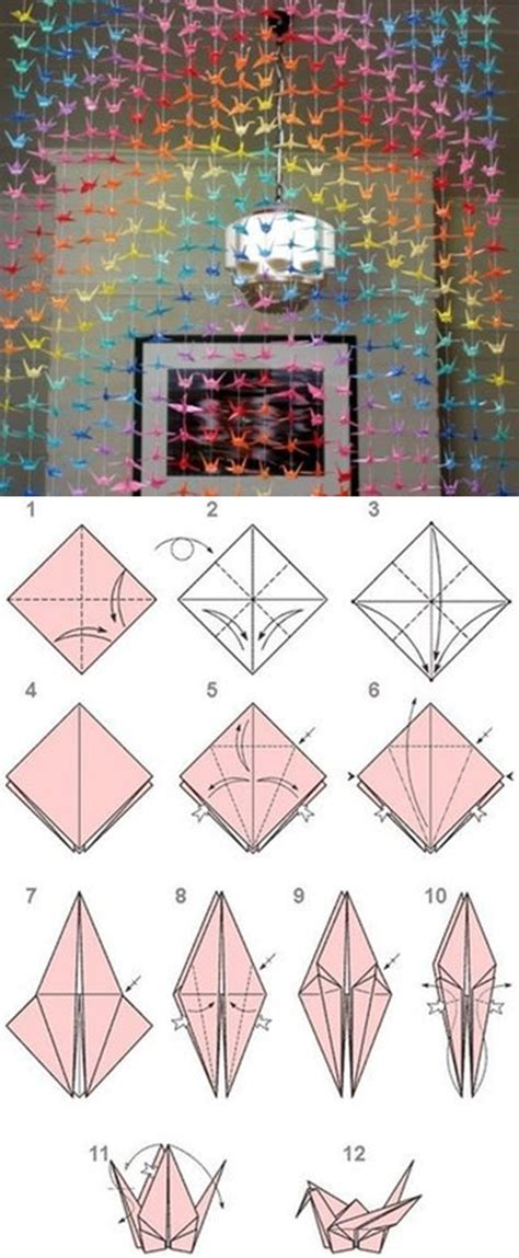 Origami Bird Tutorial - diy paper origami crane curtain fab diy