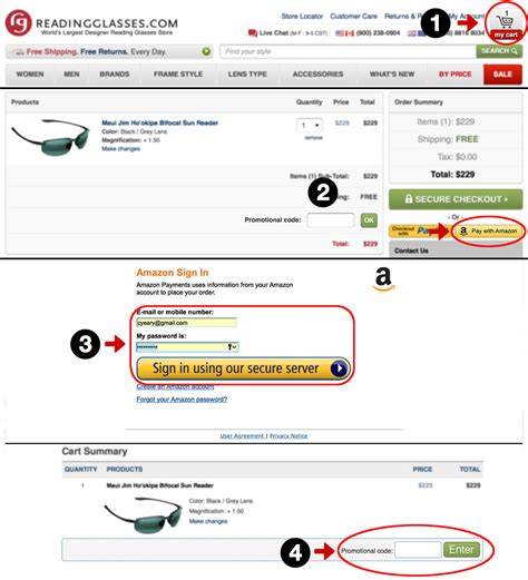 how to enter your promo code readingglasses