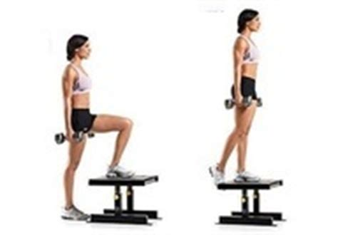 weighted step up on bench revealed the secret to firm buttocks