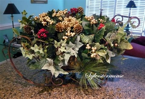 sleigh centerpieces how to make a sleigh centerpiece crafting with