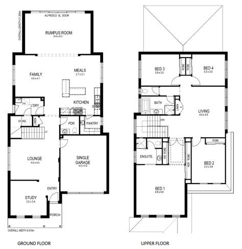 Narrow Lot 2 Story House Plans by Floor Plans For Small Lots