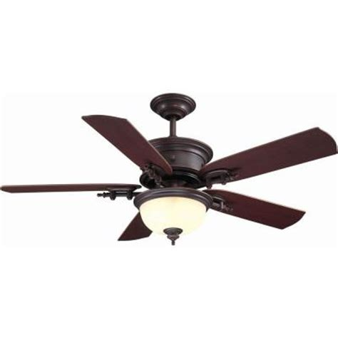 Home Depot Ceiling Fans With Remote by Hton Bay Dawson 54 In Weathered Copper Ceiling Fan