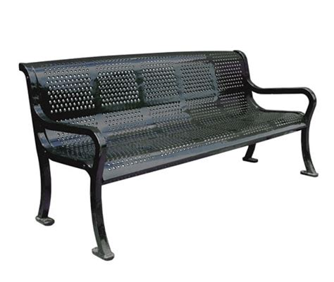 bench website metal roll perforated bench metal benches site furnishings