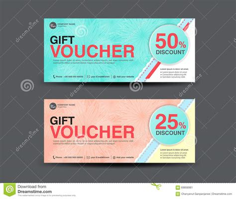 Voucher Promo discount voucher template coupon design ticket get discount stock vector illustration 69856981
