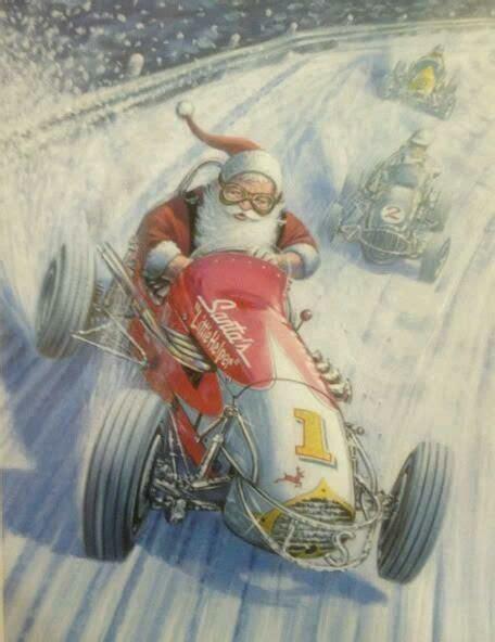 merry christmas sprint car santa  images sprint cars racing baby motorcycle christmas