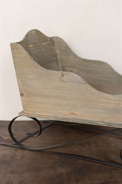 decorative wood sled 14x24in