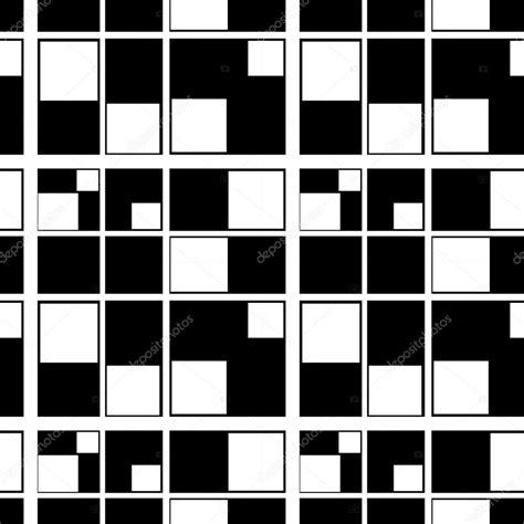 pattern of black and white squares clue seamless abstract geometric pattern squares black white