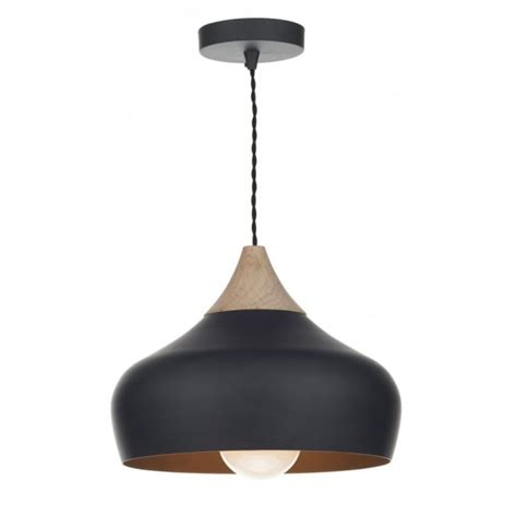 light ceiling gau0122 gaucho pendant dar matt black ceiling light wood