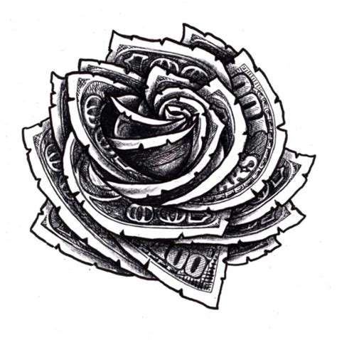 money rose tattoo design 20 dollar tattoos tattoofanblog