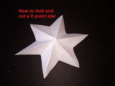 How Do You Fold Paper To Cut A Snowflake - diy how to fold and cut a 6 point make a