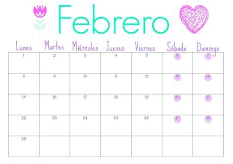 Calendario 2017 Enero Y Febrero Organiza T Calendario De Febrero Gratis Para Descargar
