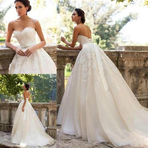 Lowback Ribbon Dress vintage wedding dresses lace applique sash low back
