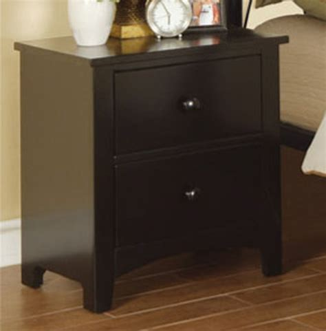 Black Wood Nightstand Poundex F4236 Black Wood Nightstand A Sofa Furniture Outlet Los Angeles Ca