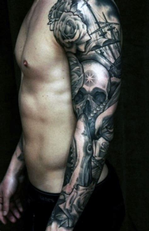 sick sleeve tattoo designs 90 cool arm tattoos for guys manly design ideas
