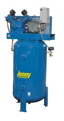 jenny wb    hp  gallon  stage air compressor   phase air compressors