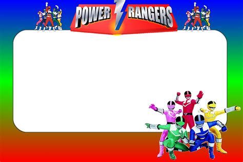 Power Rangers Birthday Card Printable