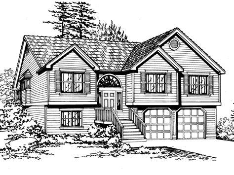 convenient drive under garage house plan hunters salem hill split level home plan 071d 0241 house plans