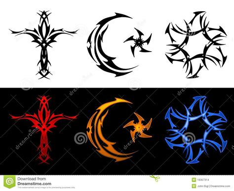 three tribal religious symbols stock images image 19357314