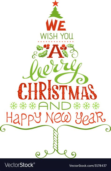 merry christmas  happy  year vector image