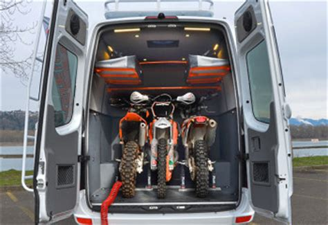 T5 Doka Motorradtransporter by Our Vans Custom Sprinter Cing Hauler 4x4