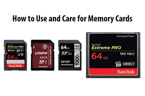 comment on how to properly use and care for memory cards
