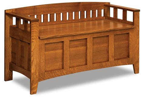 amish storage bench westfield mission storage bench from dutchcrafters amish