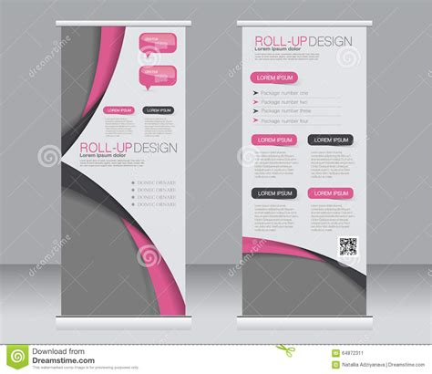 roll up stand design templates roll up banner stand template abstract background for