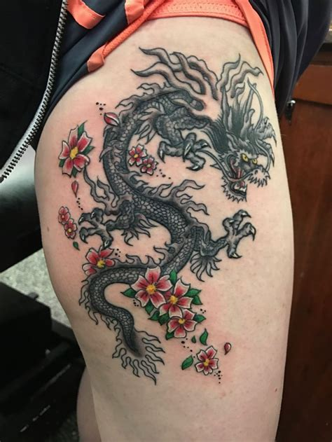 dragon thigh tattoo tattoos designs ideas and meaning tattoos for you