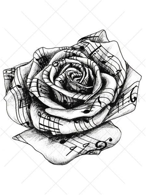 rose with music notes tattoo best 25 small tattoos ideas on