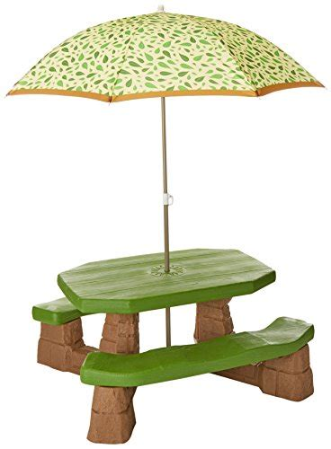 step2 naturally playful picnic table with umbrella step2 naturally playful picnic table with umbrella