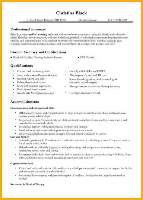 Registered Resume Skills 7 Rn Resume Sle Bursary Cover Letter