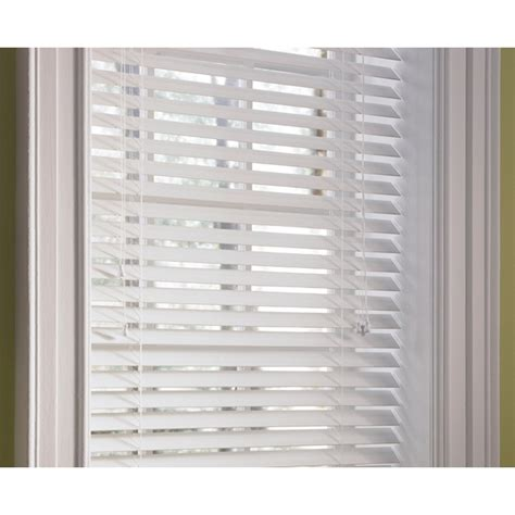 wood blinds with curtains shop levolor white faux wood 2 in slat room darkening