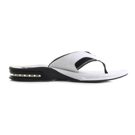 reef fanning flip flops mens mens reef fanning white black toe post sandals flip flops