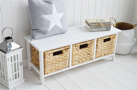 portland small storage seat  baskets hall furniture