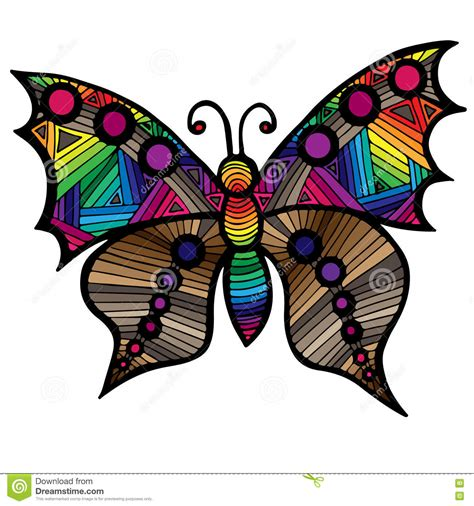 butterfly colors books black line butterfly for coloring book vector