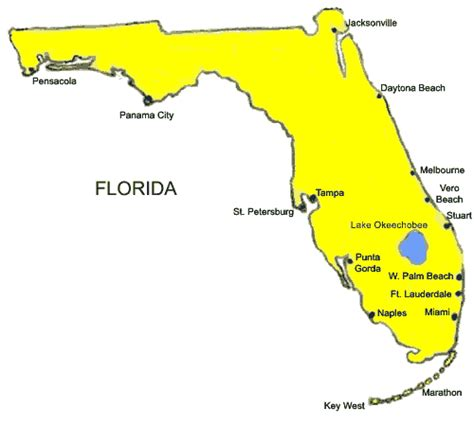 south west florida coast map