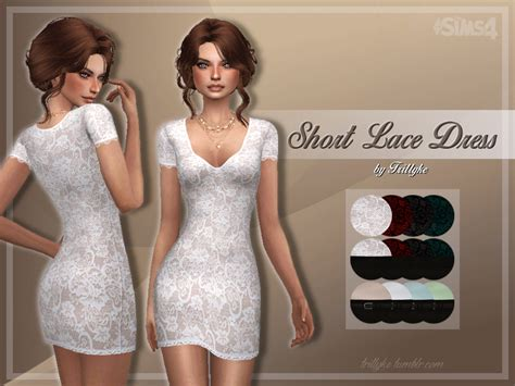lace shirt the sims 4 trillyke short lace dress 1500th followers gift i