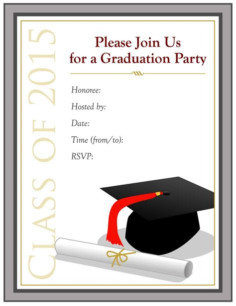 appealing printable graduation party invitations to make graduation