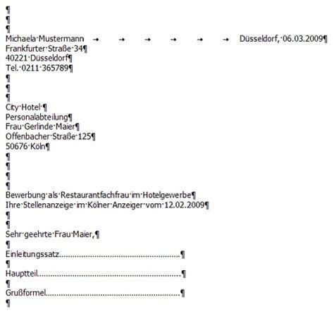 Bewerbung Anschreiben Muster Leerzeilen Das Anschreiben F 252 R Ihre Bewerbung Bewerbungen