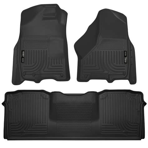 husky weatherbeater all weather floor mats for dodge ram 2500 3500 mega cab ebay