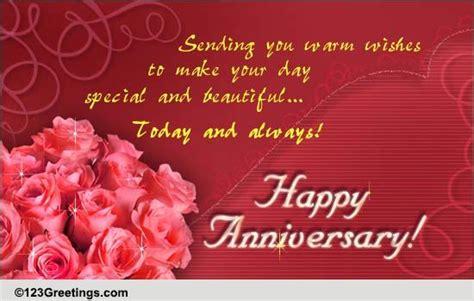 Wedding Anniversary Wishes Bhaiya Bhabhi by Warm Wishes Free Happy Anniversary Ecards Greeting Cards