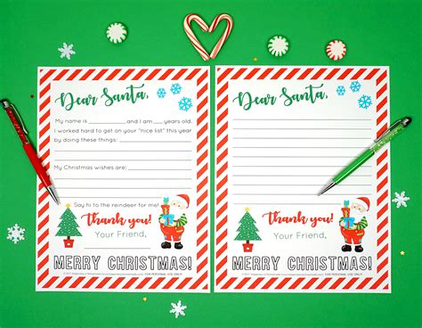 Free Printable Letter To Santa Happiness Is Homemade Free Printable Letters From Santa Templates 2