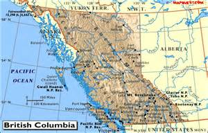 map bc canada canada provincial map of columbia
