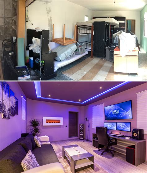 ive transformed unused garage    studio    studio room home studio