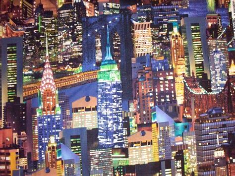 upholstery new york city nyc lights colored new york city cotton fabric fq or by