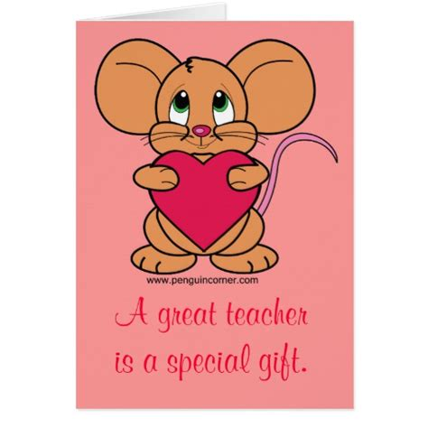 valentines card greetings for teachers thank you s card zazzle